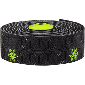 Supacaz Super Sticky Kush Starfade Handlebar Tape, neon yellow print